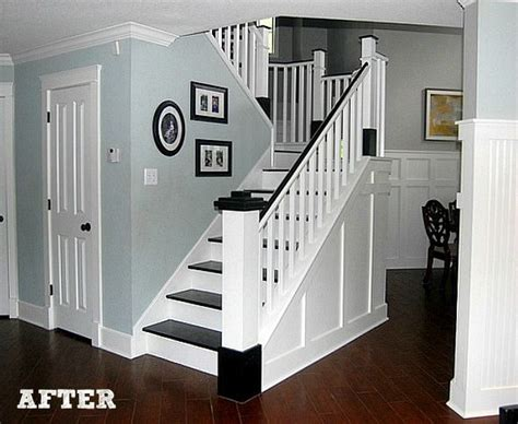 Our Black Painted Staircase Bright 17 Best Ideas About Wainscoting Stairs On