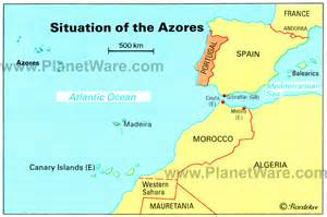 Azores World Map by Azores Islands Map Portugal Spain Morocco Western Sahara