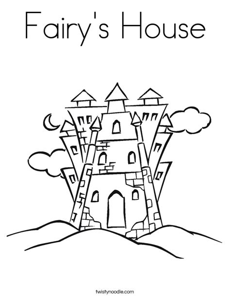 fairy s house coloring page twisty noodle