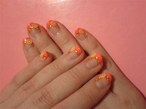 orange pattern nails 40 elegant fruit nail designs entertainmentmesh