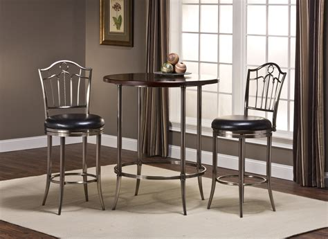 portland table and chairs hillsdale maddox antique nickel bar height bistro table