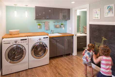 basement laundry room remodel basement laundry and bath remodel contemporary laundry room portland by burns organic