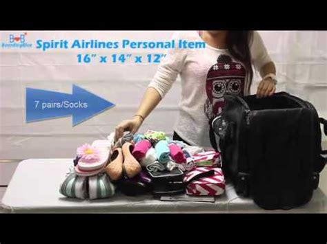 spirit airlines free personal item 16 x 14 x 12