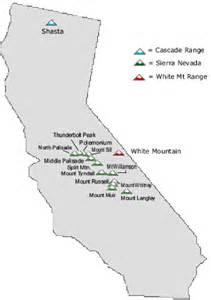 map of california 14ers deboomfotografie