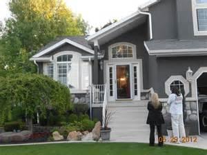 Stucco homes dark and gray on pinterest