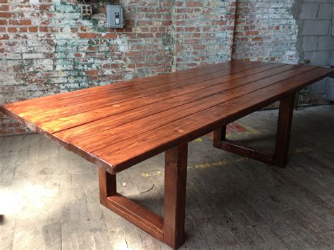 rustic wood dining conference table