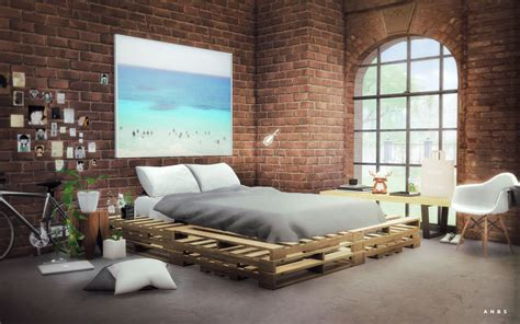 sims  blog wooden pallets bed  alachie brick sims