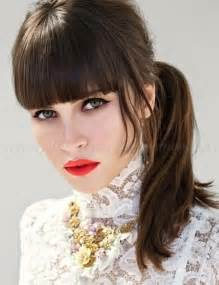 simple hairstyles bangs images