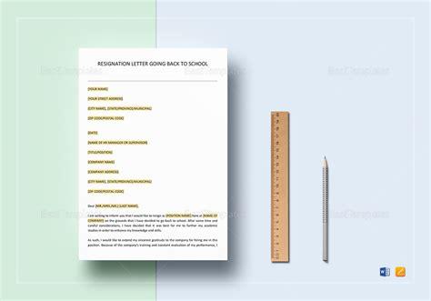 resignation letter school template word