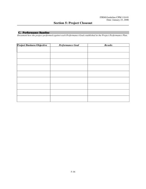 Project Closeout Report Template Pdf Project Closeout Template Virgina Free
