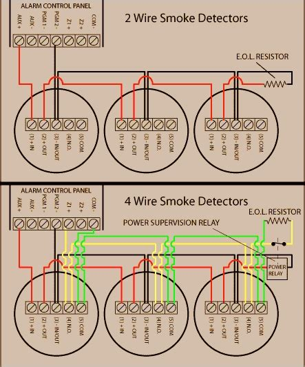 wiring diagram for hardwired smoke detectors wiring