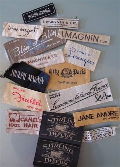 vintage fashion labels from a san francisco collection