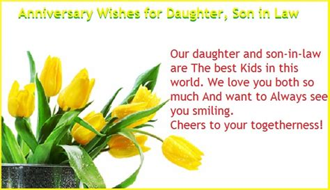 1st wedding anniversary wishes for son and daughter in law anniversary wishes for daughter wishes greetings