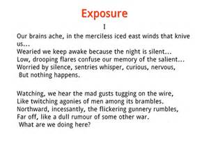 exposure by wilfred owen powerpoint and worksheets by