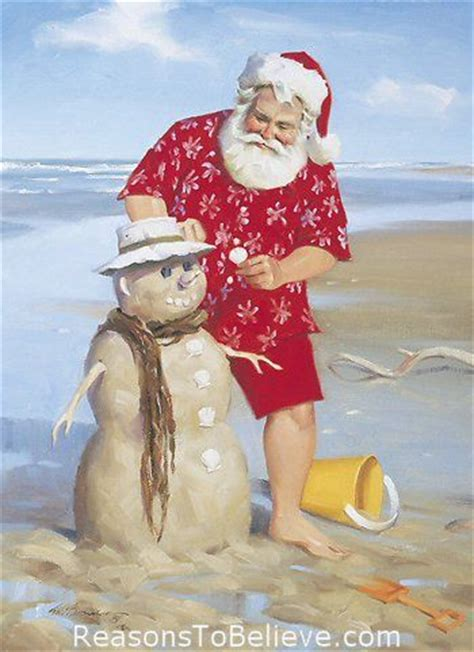shoreline fun canvas giclee print santa claus