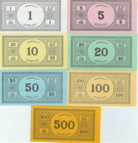 monopoly money template beepmunk