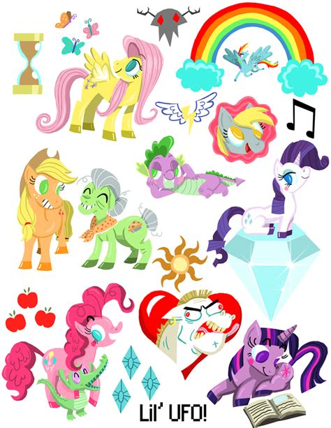 stiker sticker pony lil ufo my pony sticker sheet store