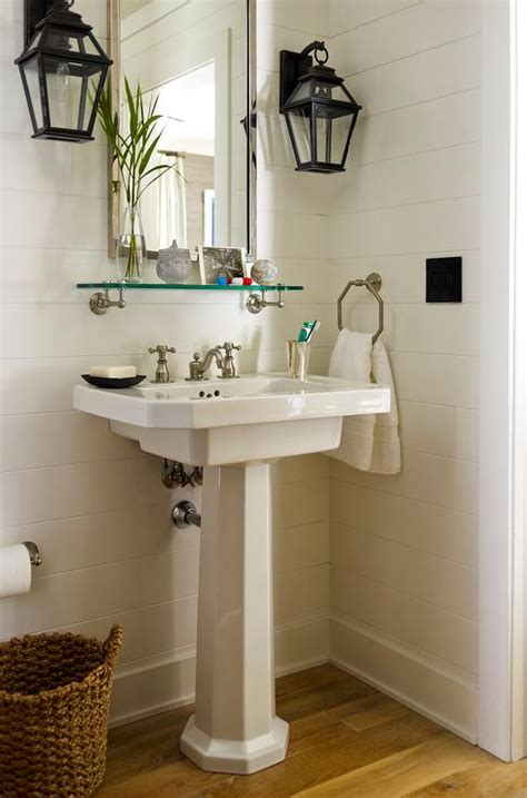 Cottage House Style by Powder Room Sconces Design Ideas