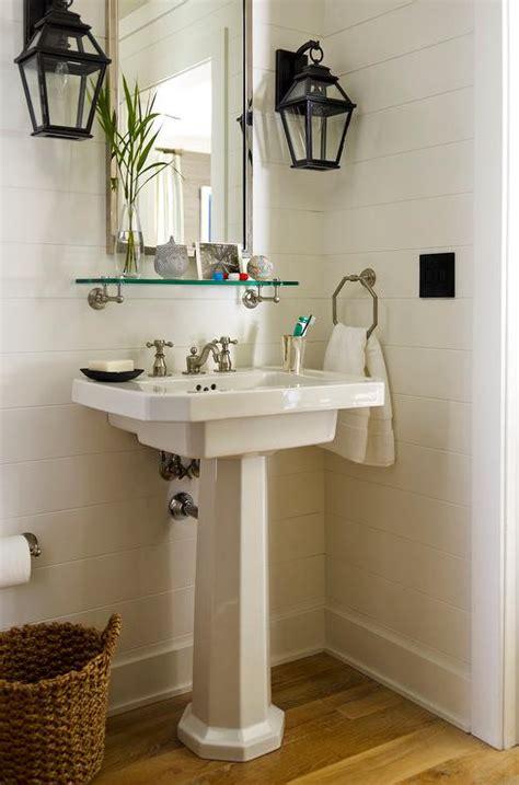 Shelves In Bathroom Ideas by Powder Room Sconces Design Ideas