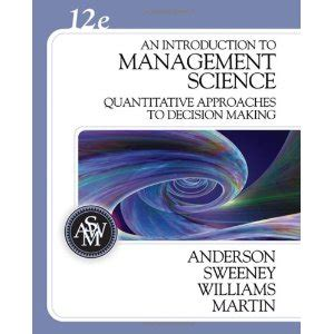an introduction to management science quantitative approach books test bank for an introduction to management science