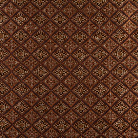 traditional upholstery fabrics brown gold persimmon and ivory diamond brocade upholstery