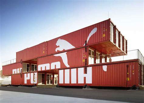 puma city shipping container store   bostons fan pier inhabitat green design