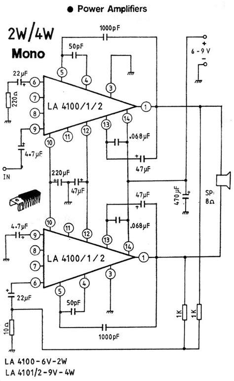 An17823a Btl 4w Mono Power Lifier audio circuits power lifiers page 2