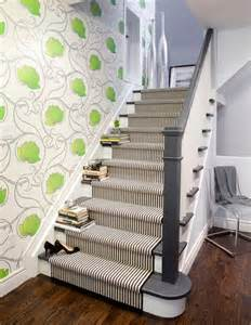 Stairway Decor Decorate Your Stairway With A Striped Carpet