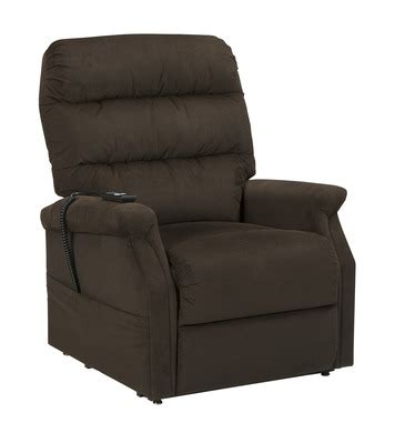 chocolate brown recliner chair brenyth power lift chair recliner in chocolate brown by