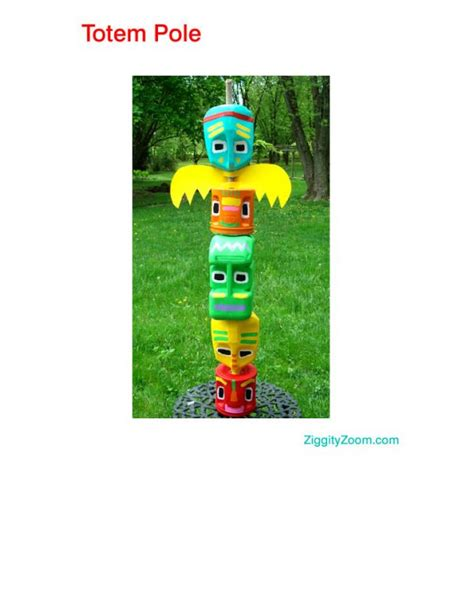 How To Make A Paper Totem Pole - 8 more earth day crafts for vicki o dell the