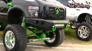 Green Truck Black Wheels Black Green 2012 Ford F 250 Truck W 12 Quot Lift On 22 Quot Mud