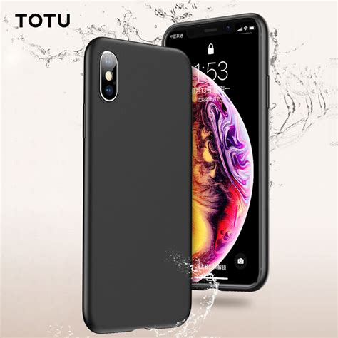 totu liquid silicone for iphone xr iphone xs max gel rubber phone cover protective for