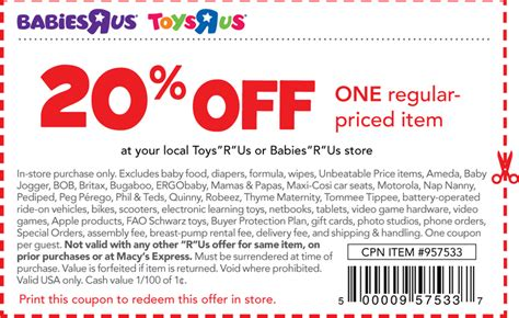 babies r us baby print baby and infant coupons