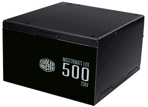 masterwatt lite 230v 500w power supply cooler master