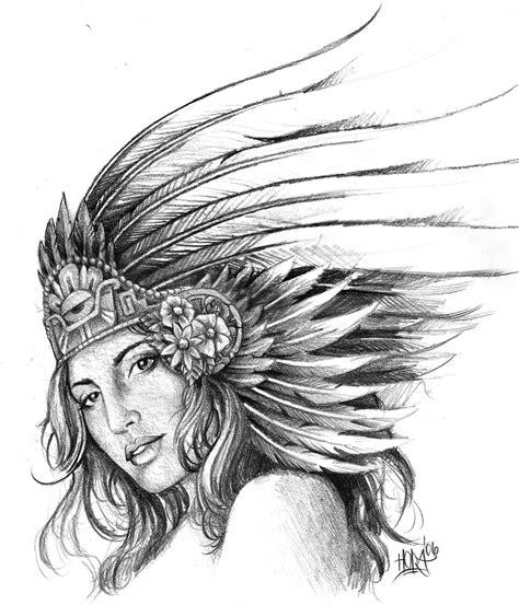 19 Unique Aztec Tattoo Designs And Ideas Aztec Warrior Tattoos Drawings