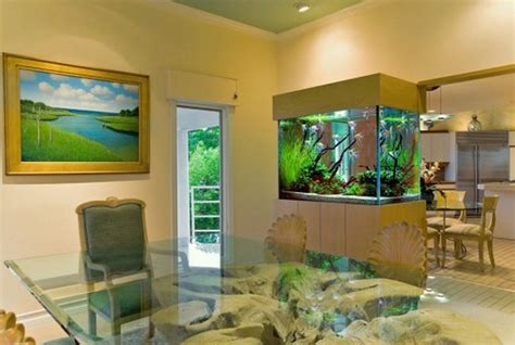 house design with aquarium ikea aquarium stand for partition between dining room and