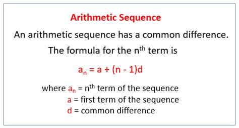 arithmetic pattern rule arithmetic sequences solutions exles videos