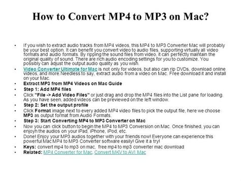 how to convert mp4 audio files to mp3 using itunes version how to convert mp4 to mp3 on mac authorstream