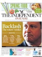 sunday independent sports section the independent on sunday uk front page for 1 april 2012