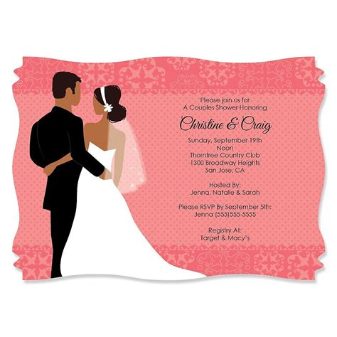 Free Printable Couples Wedding Shower Invitations Invitations Card Template Pinterest Couples Wedding Shower Invitations Templates Free