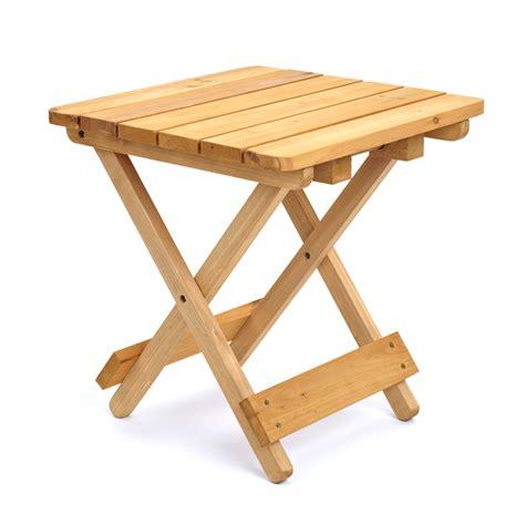 foldaway wooden side table  cm square trueshopping