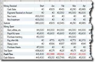 a simple cash flow spreadsheet anybody can use planning