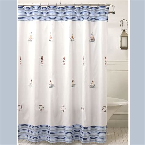 Nautical Shower Curtains nautical shower curtain hooks myideasbedroom
