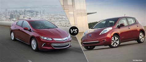 nissan leaf vs chevy volt 2016 chevy volt vs 2016 nissan leaf