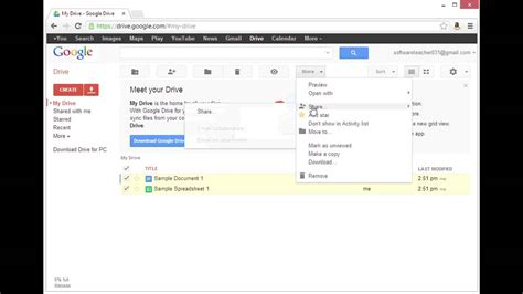 How To Move A by How To Move Docs From One Account To Another Using