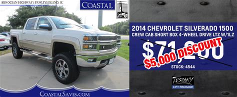 coastal chevrolet cadillac is a pawleys island chevrolet