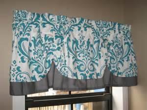 Teal Kitchen Valance Valance Window Curtain Swagged Swag Custom Made Bathroom