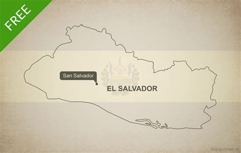 the map of el salvador free vector map of el salvador outline one stop map