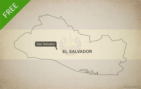 map of el salvador free vector map of el salvador outline one stop map