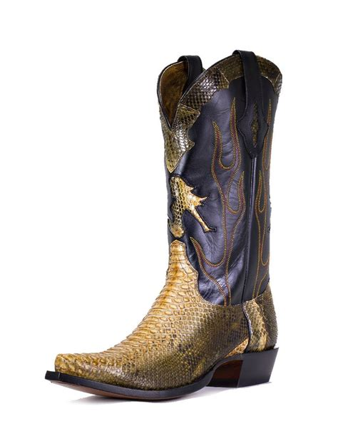 mens jungle boots lucchese s jungle python boots these boots are made